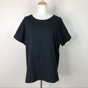 Madewell l T-Shirt Black Heathered Crew Neck Tee L